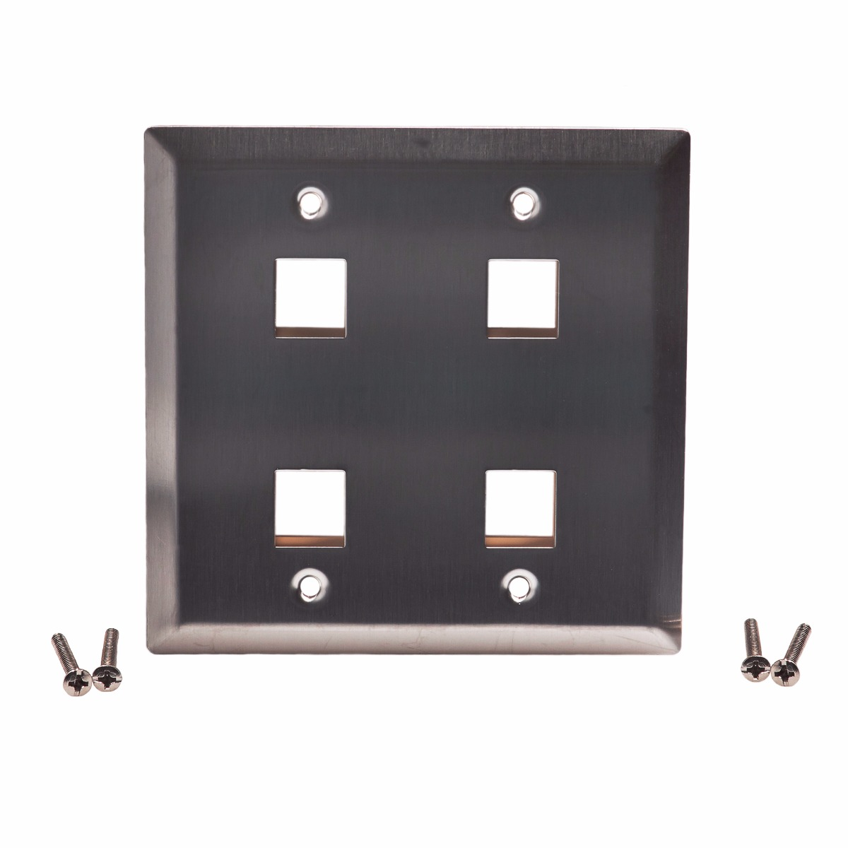 Standard Keystone Wall Plates Plastic & Steel | ShowMeCables.com