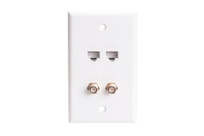rj45 cat5e jack wall plates showmecables com rh showmecables com Cable Wall Plate F Connector Wall Plate
