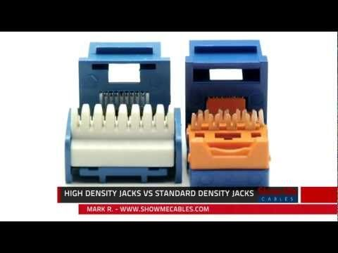 leviton gigamax cat5e rj45 punchdown keystone jack  high density