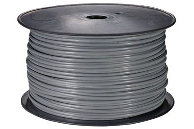 1000ft Solid 26AWG Silver Phone Cable FLAT 8 Wire