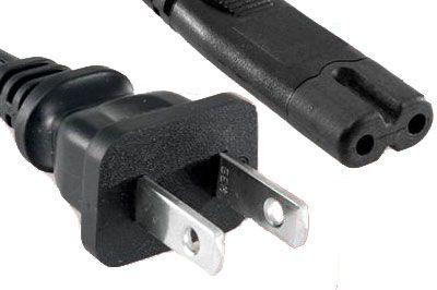 No Edge Non-Polarized Notebook Power Cord NEMA 1-15P To C7 3 ft
