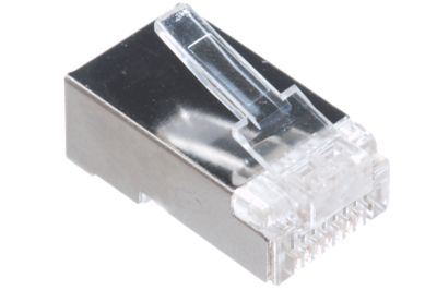 Cat 6 Cables 23 AWG Shielded CAT Solid Terminating Crimp Ends Designed For 10