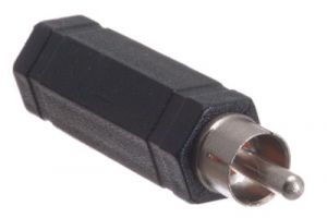 1/4 IN Mono Female to RCA Male Adapter - Plastic