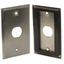 1-Port Single Gang Stainless Steel Wallplate with Water Seal