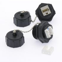 Cat.6 RJ45 Shielded Industrial Panelmount Jack with Dust Cap
