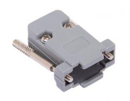 DB9 & HD15 VGA Hood with Thumbscrews - Plastic