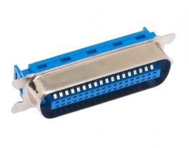 36 Pin Male Crimp Centronics Connector - Flat Ribbon Cable (IDC Type)