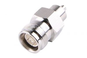 4.3/10 Mini-DIN Female Bulkhead Crimp Connector - RG8x & LMR-240