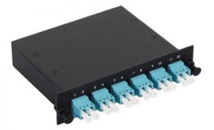 LC Multimode Duplex MTP/MPO Fiber Optic Cassette - 10GB  - 6 Port