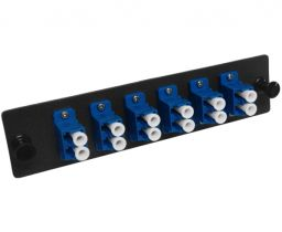Single Mode Fiber Adapter Panel - 6 Duplex LC - Ceramic - 12 Ports Total