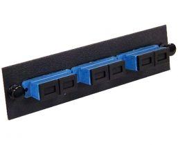 Single Mode Fiber Adapter Panel - 3 Ceramic Duplex SC - 6 Ports Total