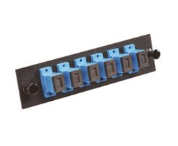 Single Mode Fiber Adapter Panel - 6 Ceramic Simplex SC Adapters