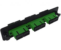 Single Mode Fiber Adapter Panel - 3 Ceramic Duplex SC/APC Couplers