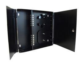 Loaded Wall Mount Fiber Enclosure - 12 Multimode SC Simplex Couplers - 12 Port