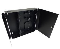Loaded Wall Mount Fiber Enclosure - 12 Multimode ST Simplex Couplers - 12 Port