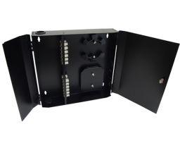 Loaded Wall Mount Fiber Enclosure - 24 Multimode SC Simplex Couplers - 24 Port