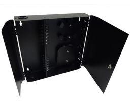 Loaded Wall Mount Fiber Enclosure - 24 Multimode ST Simplex Couplers - 24 Port
