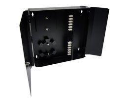 Loaded Wall Mount Fiber Enclosure - 12 Multimode LC Duplex Couplers - 24 Port