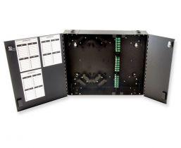 Dual Door Wall Mount Fiber Enclosure - Up to 72 Ports