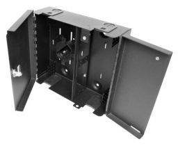 Dual Door Wall Mount Fiber Enclosure - Up to 48 Ports