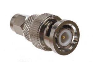 BNC Male to Reverse Polarity SMA Male Adapter