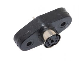 Mini 5 Pin DIN Female Solder Panel Mount Connector