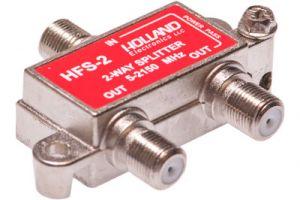 2-Way Coax Splitter - 5 to 2150 MHz - One Port Power Passive | HFS-2