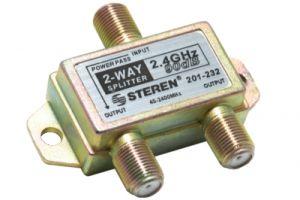 2-Way Coax Splitter - 40 to 2400 MHz - One Port Power Passive