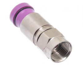 Belden SNS1P6QS F-Type Male Compression Connector - Snap & Seal - RG6 Quad