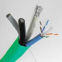 Combo Cable - 2x Cat6 UTP + 2x RG6 Quad Shield - 500 FT