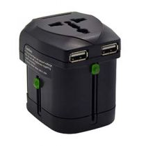 Multi-Nation Travel Adapter with Dual USB (2.4A) Ports