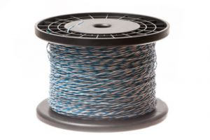 24 AWG Cross Connect Wire - 1 Pair - Blue/White - 1000 FT