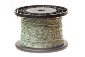 24 AWG Cross Connect Wire - 1 Pair - Green/White - 1000 FT