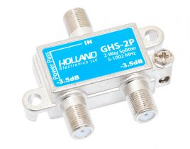 2-Way Coax Splitter - 5 to 1002 MHz - 1 Port Power Passing