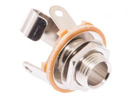 1/4 IN Mono Female Solder Connector - Open Frame - Metal