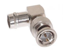 BNC Male to BNC Female Right Angle Adapter - 75 Ohm