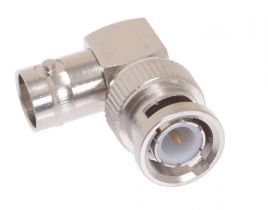 BNC Male to BNC Female Right Angle Adapter - 50 Ohm