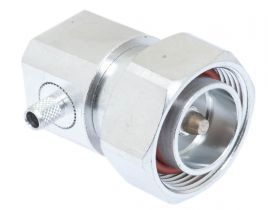 7/16 DIN Right Angle Male Crimp Connector - Micro 8/U (RG8X) & LMR-240