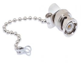 BNC Male Terminator with Grounding Chain - 93 Ohm