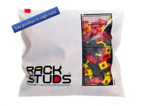 Rackstuds™ Smart Rack Mounting System - Red - 100 Pack | RSL100