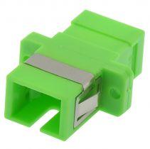 SC/APC to SC/APC Simplex Singlemode Fiber Adapter - Ceramic
