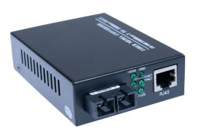 ECore - 1000 Mbps Gigabit Multimode Fiber Optic Ethernet Media Converter - SC - 550 M