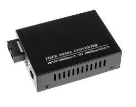 ECore - 1000 Mbps Gigabit Singlemode Fiber Optic Ethernet Media Converter - SC - 15 Km