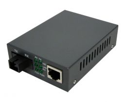 Singlemode WDM Media Converter - 10/100 Base-TX 1550nm to 100 Base-FX - RJ45 to SC - 20 Km