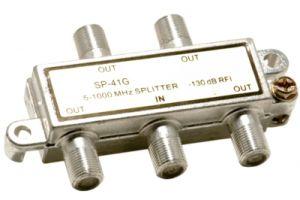 4-Way Coax Splitter- 5 to 1000 MHz