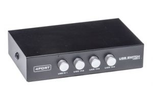4-Way USB 2.0 Manual Switch Box