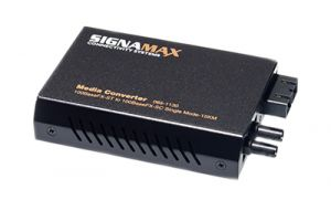 100 Mbps Singlemode to Multimode Fiber Optic Media Converter - SC to ST - 15 Km to 2 Km