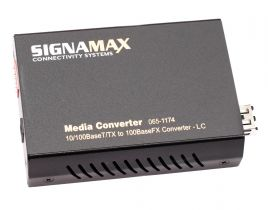 10/100 Mbps Multimode Fiber Optic Ethernet Media Converter - LC - 2 Km