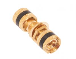 Gold Binding Post / Banana Jack Panel Mount Connector - Metal - Black