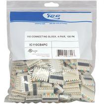 4 Pair 110 Connecting Block - 100 Pack